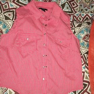 Red and White 💋 Daisy Duke Shirt